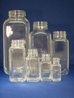 French Square Jars